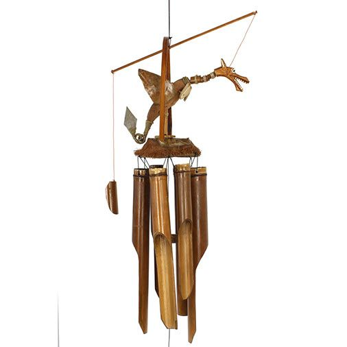 Dragon Bamboo Coconut Wind Chime Mobile Garden Porch Handmade