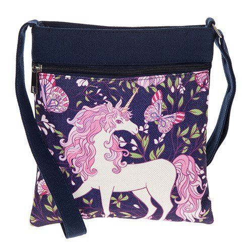 Equilibrium Butterfly Unicorn Messenger Bag