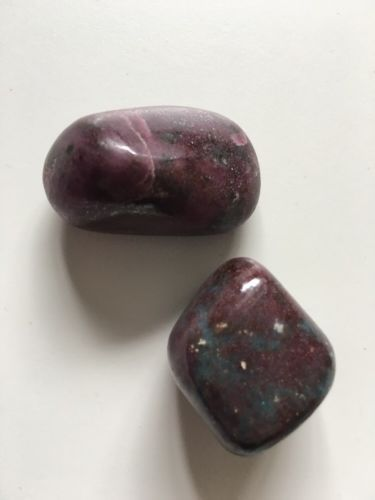 Ruby In Kyanite Tumble stones Healing Reiki Crystal Love, Protection