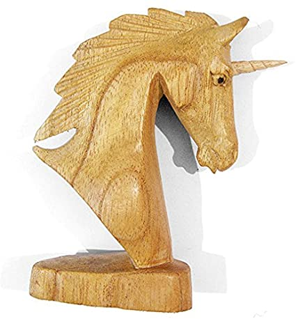 Small Wooden Unicorn Ornament
